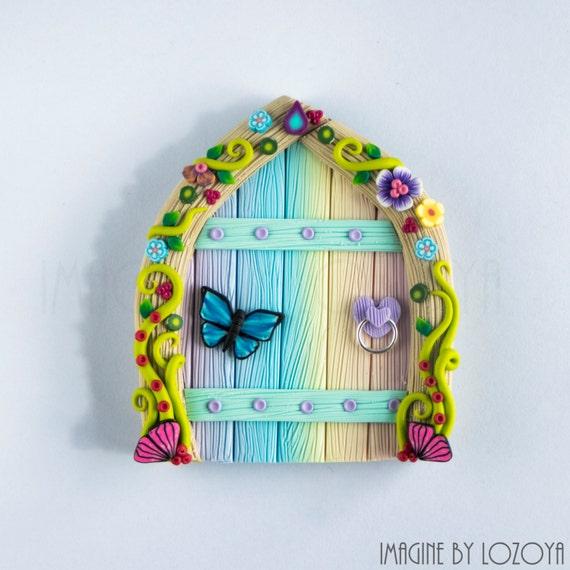 Rainbow fairy door model camelia puerta de hada arcoiris for Rainbow fairy door