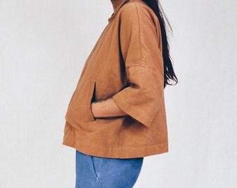 Carlo Top in Ochre //  Kimono Tops  - Women's Hand-made Clothing