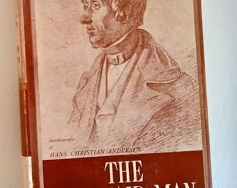 The Mermaid Man --- The Autobiography of Hans Christian Anderson --- Vintage Author Biographical Book --- Rare Literature Library Home Decor
