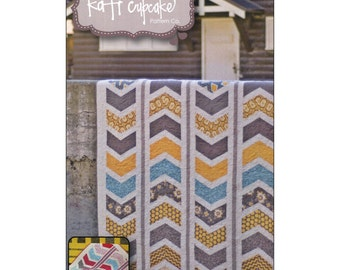 "Pattern ""Sketchy"" Quilt Pattern by Kati Cupcake (KCP157) Paper pattern Instructions"