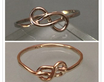 Solid 10k Infinity Knot ring, 10K Infinity Knot Ring