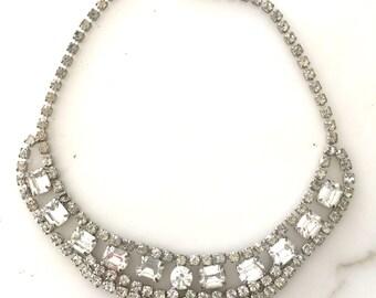 Vintage Art Deco Rhinestone Necklace