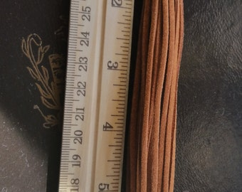 Leather Brown Tassel, Jewelry Supplies, One Tassel Pendant