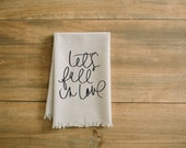 Lets Fall in Love Napkin, home decor, present, housewarming gift, tableware, table, place setting, thanksgiving, dinner party, fall