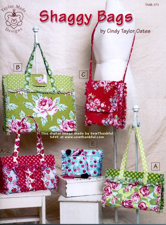 Shaggy Bags By Cindy Taylor Oates Fabric Bag Patterns Purse