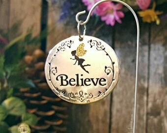 Believe Miniature Fairy Garden Sign - Fairy Garden Accessories Fairy Sign Fairy Garden Kit Believe in Fairies Miniature Fairy Silhouette