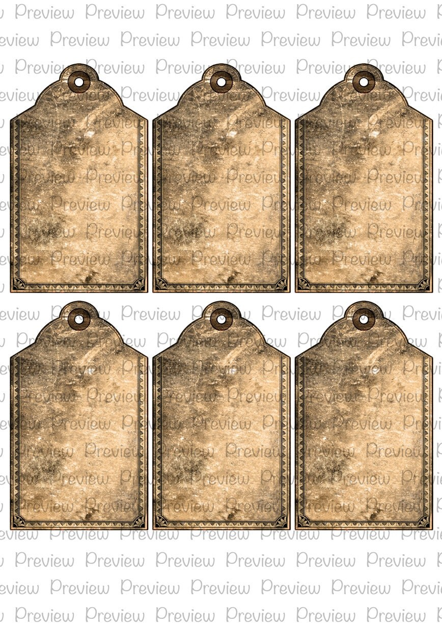 Rustic Wedding Gift Tags : Digital Vintage Tags Wedding Gift Labels Rustic Shower Favours