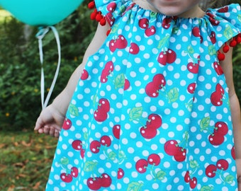 Retro Inspired Cherries and Polka Dot Summer Dress
