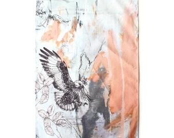 Jackal Buzzard Tea Towel