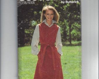 Butterick 5843 See & Sew Vintage Sewing Pattern for Misses' Jumper, Size 10, Semi-Fitted Jumper, V Neckline, 1980s Pattern, Vintage Pattern