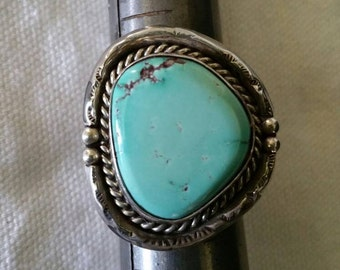 Turquoise Ring, Vintage Rings, Estate Jewerly, Old Pawn Jewelry, Old Pawn, Sterling Silver Ring,
