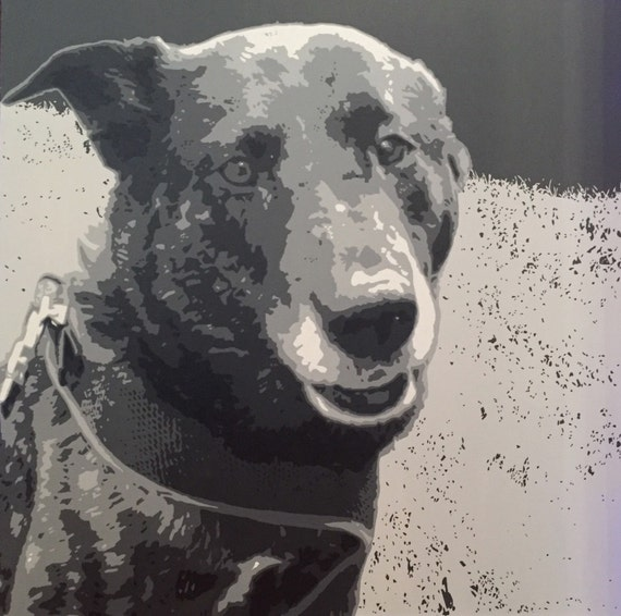 """Pet Portrait Custom Pop Art Painting 30""""x30"""" Canvas"""