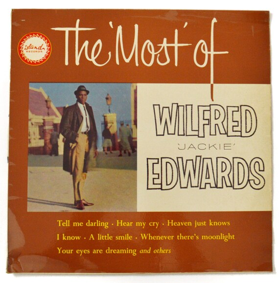 """Vintage 60s The 'Most' of Wilfred """"Jackie"""" Edwards Album Record Vinyl LP"""
