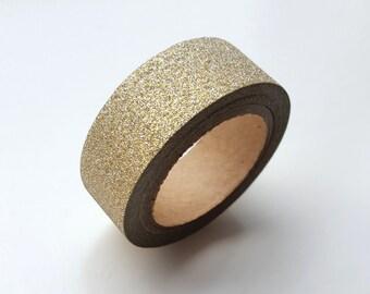 Washi Tape - Gold Glitter Tape