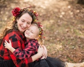 mother + daughter floral crowns