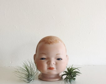 Bisque Doll Head . Creepy Doll Making . German Doll Head