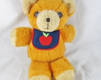 Freddy Teddy Bear Squeaker Fisher Price 1975 Vintage Plush Animal