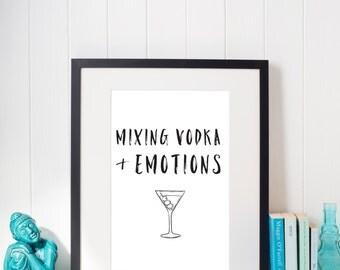 drake views | mixing vodka and emotions | hotline bling | drake print | rap lyrics | printable art | beyonce | nicki minaj | rihanna