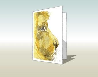 Beautiful lion greetings card (A6 - 105 x 148mm)
