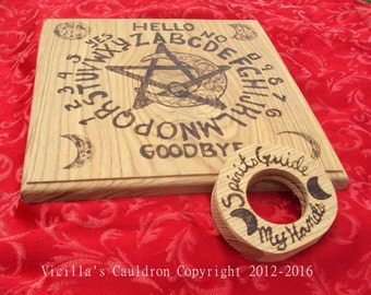 SALE - Witches Moon - Ouija Board - Spirit Communication - Ash Wood - High Quality