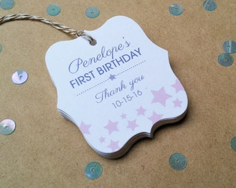 Personalized favor tags - Stars birthday favor tags - Cute favor thank you tags - Baby shower thank you tags - TG23