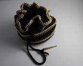 1940's Crochet & Pearl Reticule (Early Plastic Base)