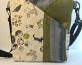 CATS~CROSSBODY BAG~New Style ~Crossbody~Shoulder Bag~Travel Bag~ Messenger Bag~Bags and Purses~Handbags~Handmade~Fabric Bag