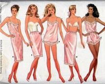 Butterick 5740, Misses Classic Lingerie Sewing Patterns, Misses Sizes 12,14,16, Uncut, Camisole, Panties, Teddy, Half Slip, Petite Slip