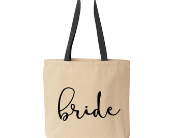 Bride Tote Bag, Bride Bag, Wedding Day Tote for Bride, Bride Gift, Bridal Tote Bag, Bridal Shower Gift Bag, Bridal Shower Tote Bag