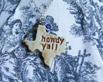 Howdy Y'all necklace