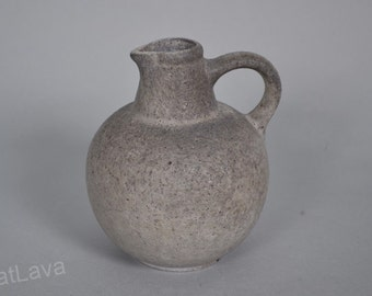 Ruscha small grey   glaze  West German vase   304