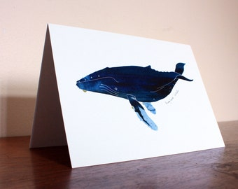 Humpback Whale // Watercolour Illustration // Blank Card
