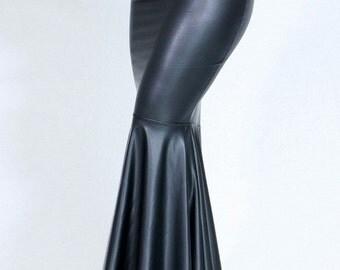 Mermaid Skirt,Black Mermaid Skirt,Red Mermaid Skirt,Faux Mermaid Skirt,Faux Leather Skirt,Black Mermaid Maxi,Red Mermaid Maxi,Gift for Her