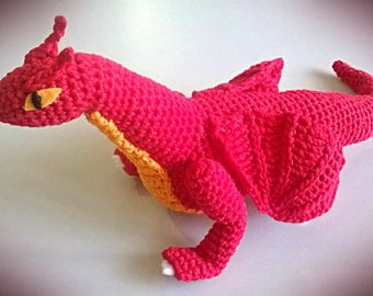 Fire Dragon Amigurumi Pattern