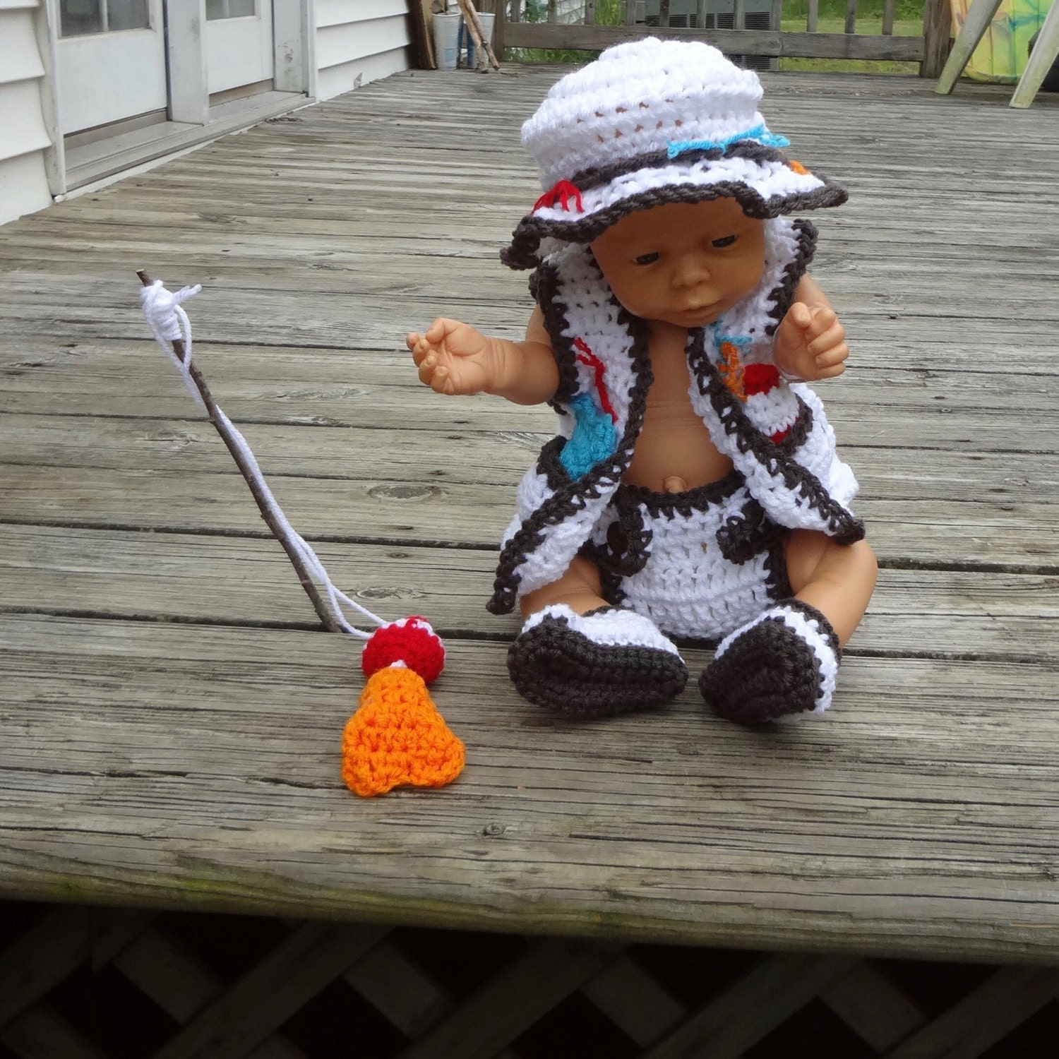 Baby photo prop baby fishing outfit fishing photo prop fishing for Baby fishing outfit