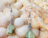 Sterling Silver and Prehnite Earrings