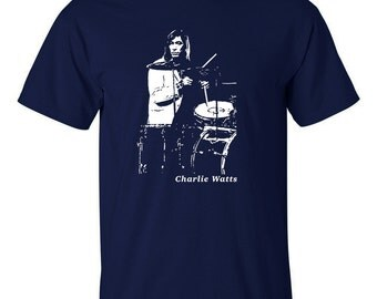 Charlie Watts T Shirt Legendary drummer The Rolling Stones Blues Incorporated