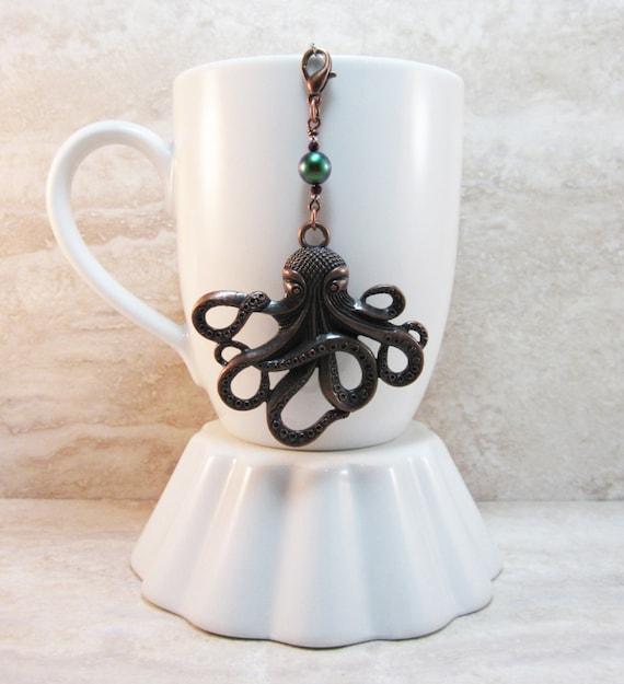 Jules verne inspired octopus tea infuser charm antique copper - Octopus tea infuser ...