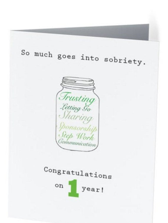 sober anniversary jar card 1 2 3 4 and 5 years