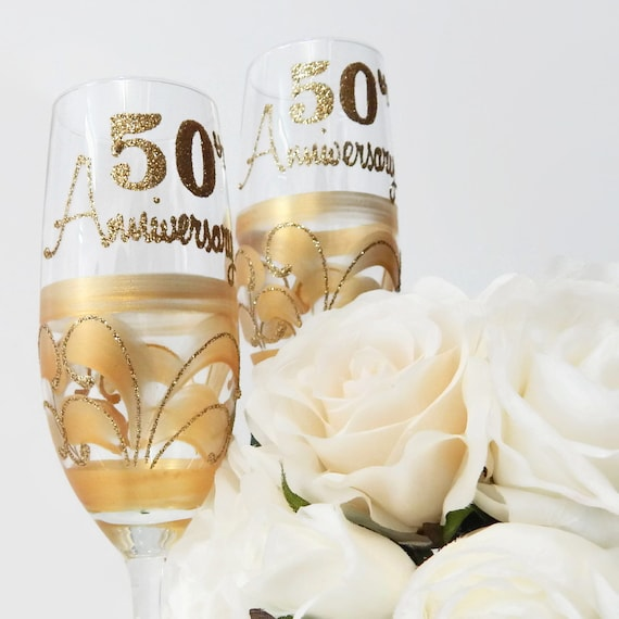 gold 50th wedding anniversary champagne by inaspinniquesway