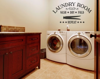 Laundry Room Decor Laundry Wall Decals Laundry Wall Decal Laundry Room Wall Decor