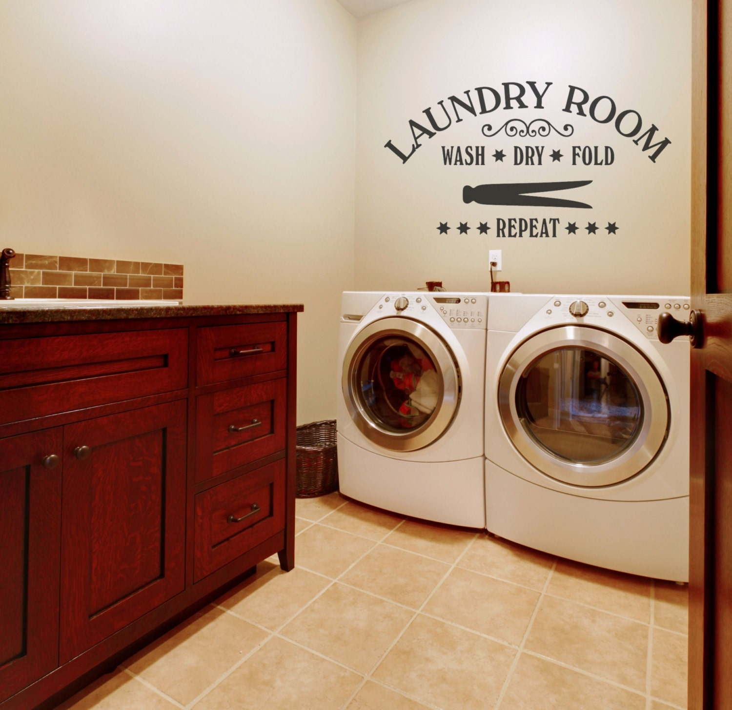 Laundry room decor laundry wall decals laundry wall decal zoom amipublicfo Image collections