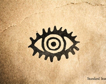Staring Eye Rubber Stamp - 2 x 2 inches