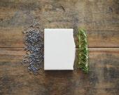 Lavender + Rosemary Soap   All Natural Essential Oil Body Wash Bar, Handmade Cold Process, Homemade Herbal Cleanser, Artisan Vegan Skin Care