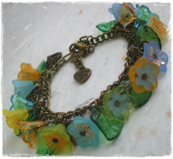 bluebell bracelet mixed bluebell charm bracelet bronze