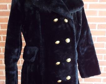Wonderful Vintage Black Coat for Her