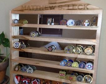 Custom Military Challenge Coin Rack