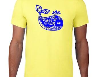 CLEARANCE FINAL SALE, Cute Whale T Shirt, Nautical Ocean Animal Tshirt, Whimsical Whale Tshirt, Funny Tshirt, Funny Tee,