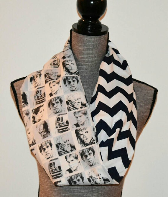 Knitting Pattern For Star Wars Scarf : Star Wars Reversible Infinity Scarf Ladies by ItsPeachyKeen