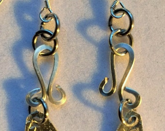 Sterling Silver Playful Drop Earrings